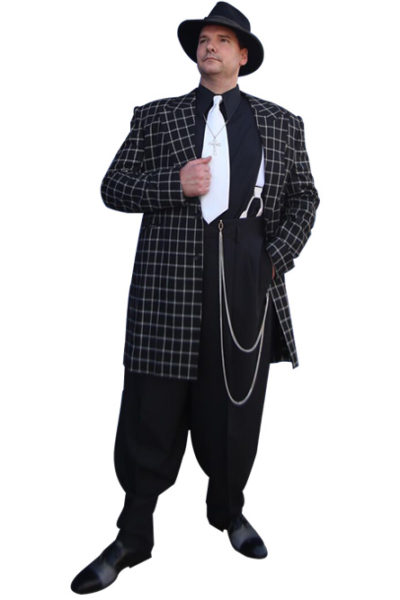 Black and White Checkered Coat and Pants Zoot Suit
