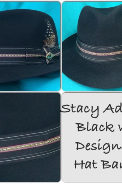 Black with Design Stacy Adams Hat