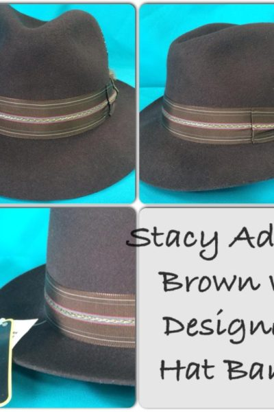 Brown with Design Stacy Adams Hat