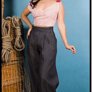 High Waisted–Vintage Style Hollywood Pants